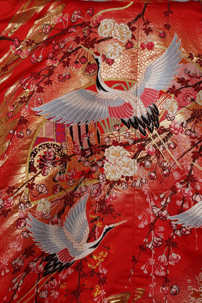 赤地に枝垂桜サブ画像1