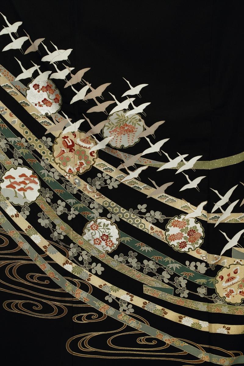 熨斗目に群れ鶴サブ画像1