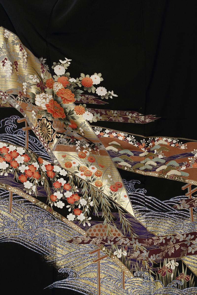 青海波に小花サブ画像1