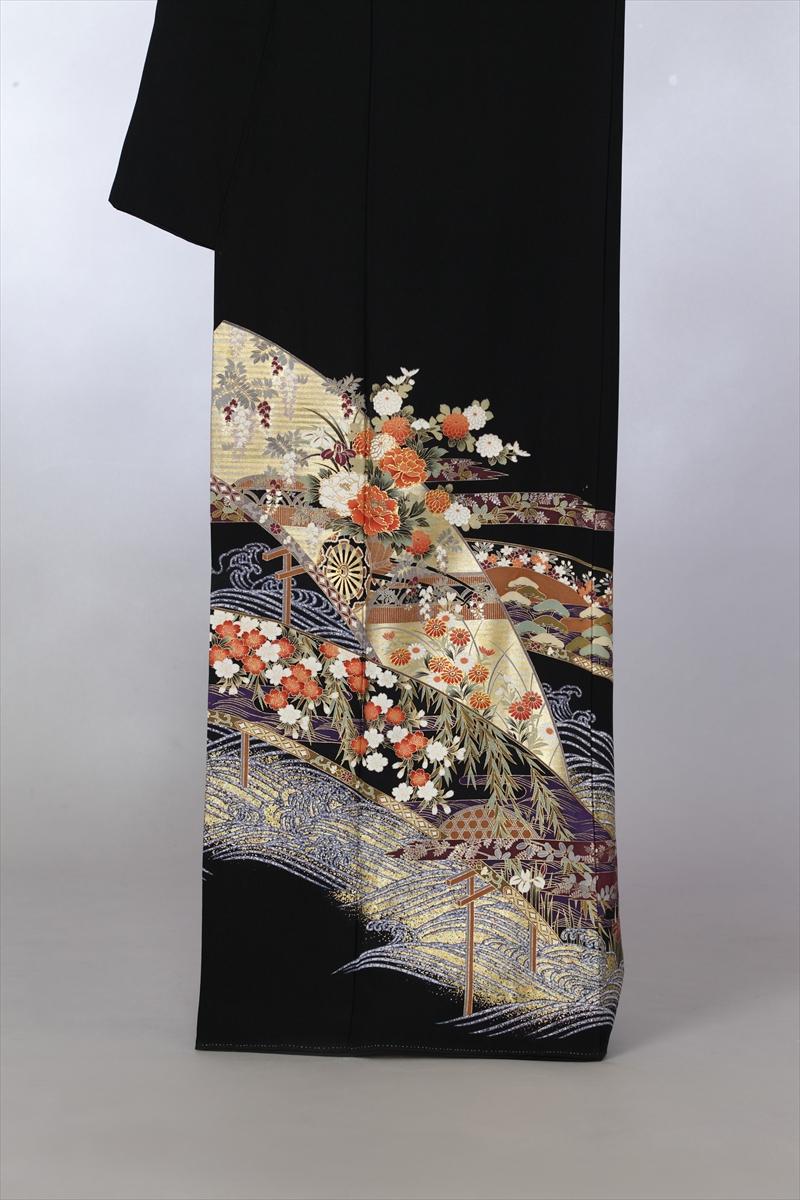 青海波に小花