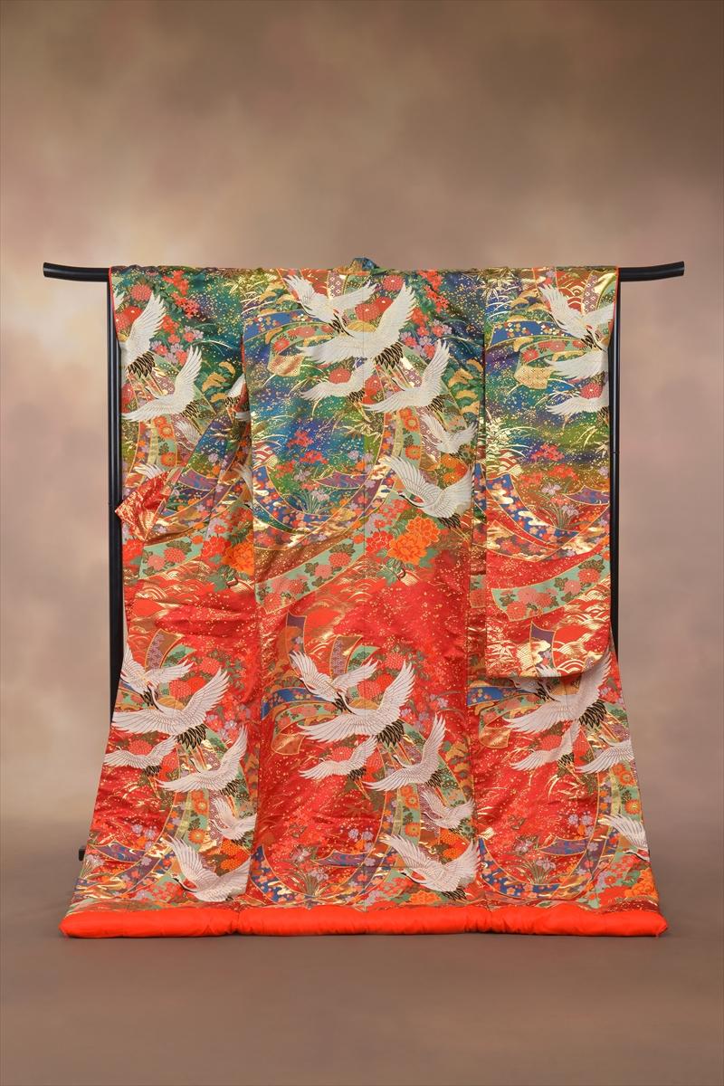 赤緑/鶴に熨斗目メインイメージ